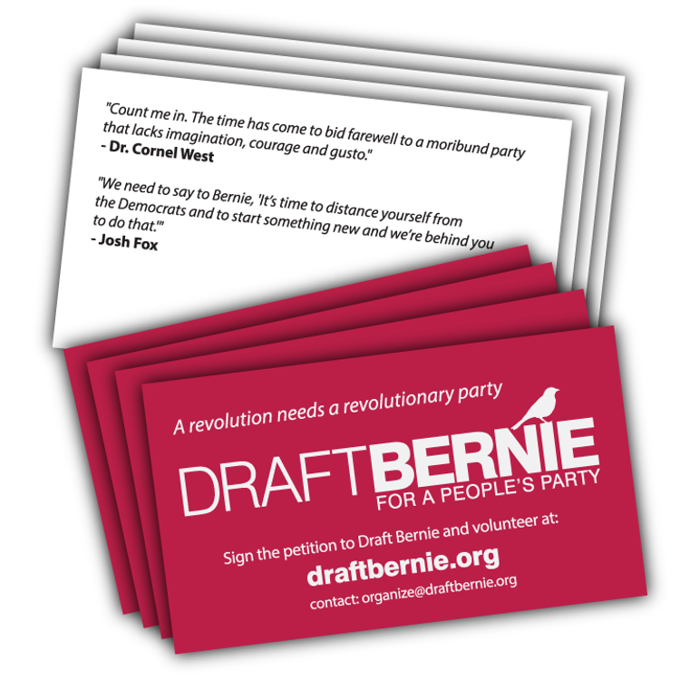 Draft Bernie Business Card -- 250-Pack