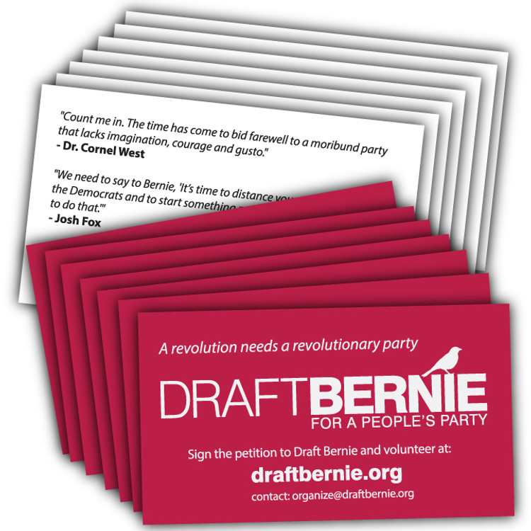Draft Bernie Business Card -- 500-Pack