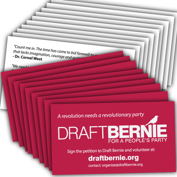 Draft Bernie Business Card -- 1,000-Pack