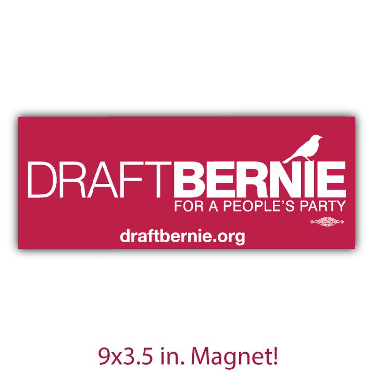 Draft Bernie Official Logo - Burgundy  (Bumper Magnet)
