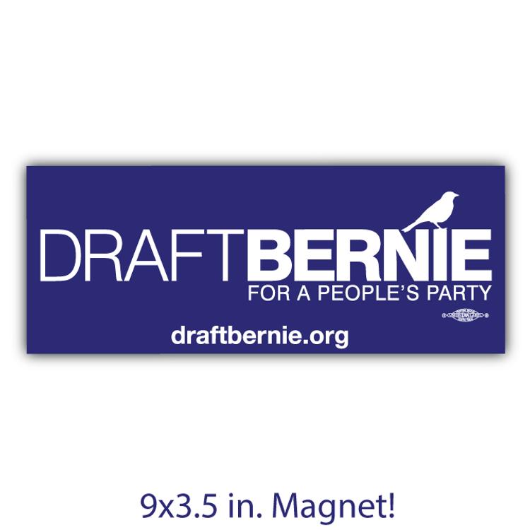 Draft Bernie Official Logo - Navy  (Bumper Magnet)