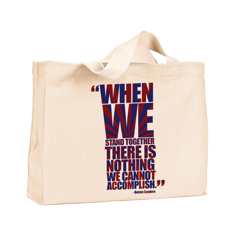 When We Stand Together Canvas Tote