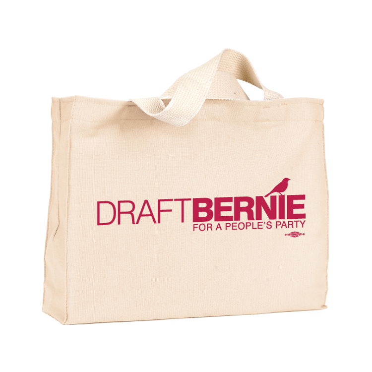 Draft Bernie Offical Logo Canvas Tote