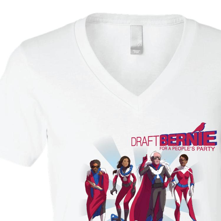 Bernie Heroes (White V-Neck)