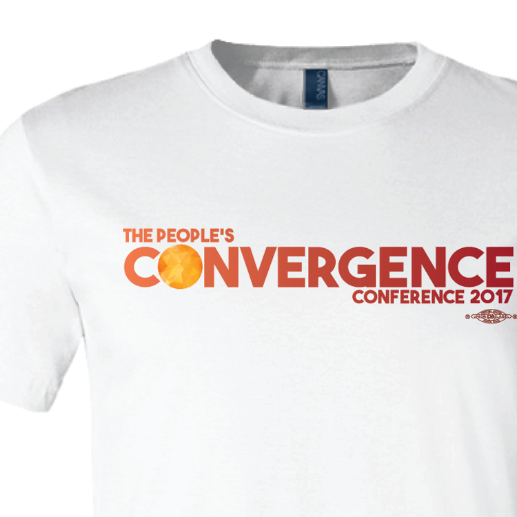 People's Convergence Conference Horizontal Logo (on White Tee)