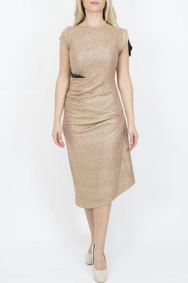 Caroline Kilkenny Gold Mai Dress