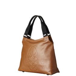 Orla Kiely Embossed Flower Stem Leather Classic Zip Shoulder Bag