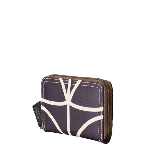 Orla Kiely Medium Zip Wallet Orchid