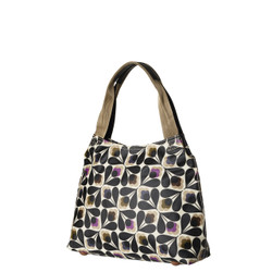 Orla Kiely Classic Zip Shoulder Bag Sycamore Seed pring