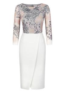 Fee G Cream Lace Dress