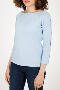 Fee G Blue Knit Sweater