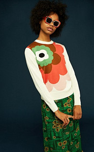 Orla Kiely Flower Sweater Ivory