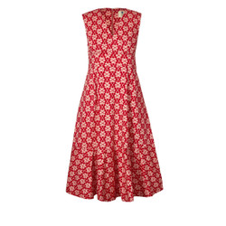 Orla Kiely V Neck Fuschia Dress