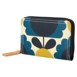 Orla Kiely Medium Zip Wallet Denim