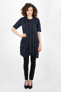 Transit Par Such Stripe Navy Top