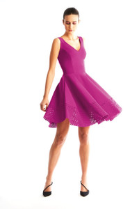 Chiara Boni Leila Fuschia Dress with sleeves