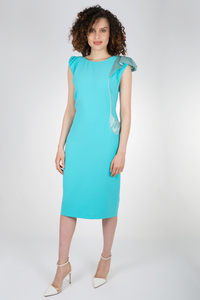 Caroline Kilkenny Lara Dress Aqua