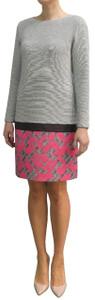 Fee G Grey Dress With Pink Hem