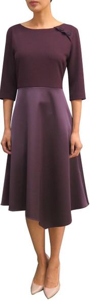 Fee G Plum Full Skirt Dress