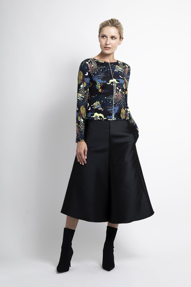 Caroline Kilkenny Black Piper Skirt