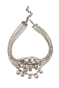 Pat Whyte Beige Cluster Necklace
