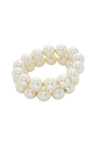 Pat Whyte 2 Row Bracelet Cream