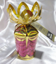 "6 oz. Milk Chocolate ""Pink Hearts"" in Gold Gift Bouquet"