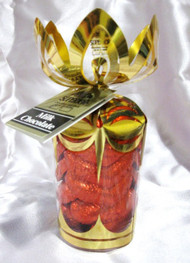 "6 oz. Milk Chocolate ""Red Hearts"" in Gold Gift Bouquet"