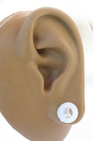 2 WHITE SILICONE plugs tunnels ear gauge CHOOSE SIZE