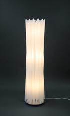 White floor lamp HBK001L modern contemporary art decor for living room, bedroom, corner, teen, girl's room