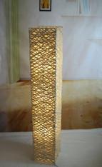 TKU008L  Handmade bamboo rectangle Floor Lamp