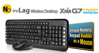 A4tech GL-1630 XFAR G7 Wireless Keyboard & Mouse