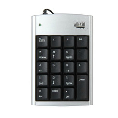 Adesso AKP-150 USB 19 Key USB Plug-and-Play Numeric Keypad
