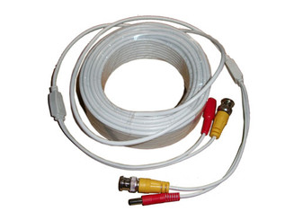 Aposonic A-XBNC100FT 100 Feet Video & Power Cable (White)