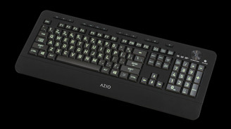 Azio KB506 Vision Backlit Large Print 5 Backlight Colors USB Keyboard