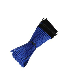 BitFenix BFA-MSC-24ATX45BK-RP  (Blue) Alchemy Multisleeved 30cm 24Pin ATX Male to 24Pin ATX Female Extension Cable
