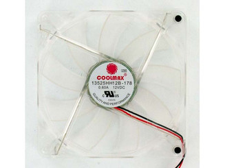 Coolmax 13525HH12B 135x25mm Power Supply Replacement Fan, Blue LED, 2Pin