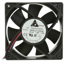 Delta AFB1212SHE-CF00 120x38mm 2 Ball Bearing Extreme Hi Fan, 3 Bare Wires