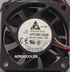 Delta AFC0612DB-PWM 60x15mm PWM Fan, PWM 4Pin