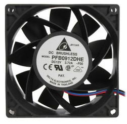 Delta PFB0912DHE-F00 92x38mm Extreme Hi Fan,3 Bare Wires