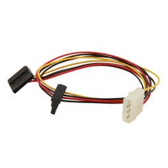EverCool EC-ST004 50cm 4Pin Molex to Dual 15pin SATA Power Cable