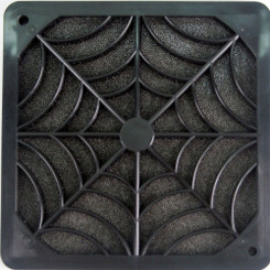 EverCool FGP-120 120mm Plastic Fan Filter, Black