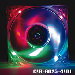 EverCool CLB-6025-4LD1 60x25mm 4 Color LED Fan (B,G,R,O)