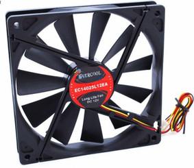 Evercool EC14025L12EA 140x140x25mm Slow Speed Fan, 3Pin