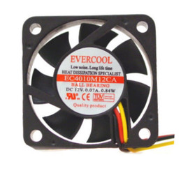 Evercool 40x40x10 mm Ball Bearing fan 3Pin EC4010M12CA B-3T-L