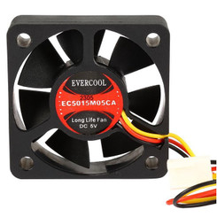EVERCOOL EC5015M05CA 50x50x15mm 5v Fan , 3Pin