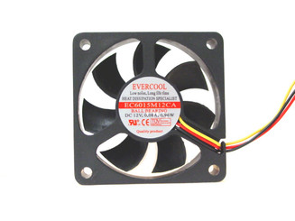 EverCool EC6015M12CA 60x15mm Ball Bearing Fan, 3pin