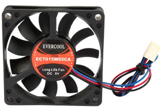 Evercool EC7015M05CA 70mm x 15mm 5V Ball bearing Fan, 3Pin