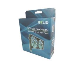 Gelid SL-PCI-02 PCI Slot Fan Holder (Dual 120mm UV Blue Fan)