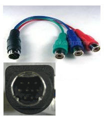 9 pin S-Video to RCA HDTV adapter 36700